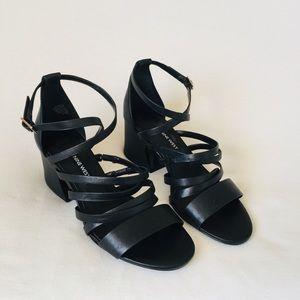 Nine West leather bands sandals 6.5